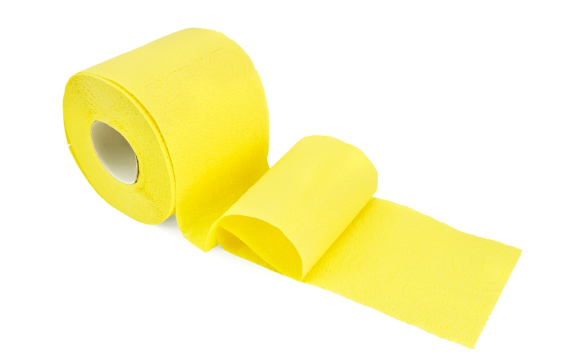 Rollo de papel de color amarillo